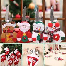 Snowman Dinner Tableware Cases Cutlery Bags Christmas Decor Fork Spoon Cover