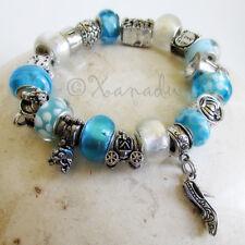 Cinderella Love Story Turquoise Blue Fairytale European Charm Bracelet