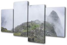 Machu Picchu Nature Landscapes MULTI DOEK WALL ART foto afdrukken