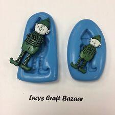 Stampo in silicone ELF Santas Little Helper Natale Torta Decorazione
