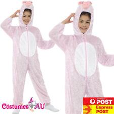Pink Pig Book Week Animal Jumpsuit Boys Girls Kids Peppa Pig Costume Fancy Dress
