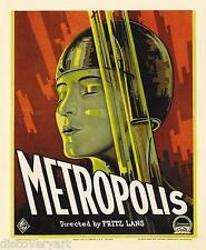 Metropolis 1927 Film Canvas Wall Art Movie Poster Print German Sci-Fi