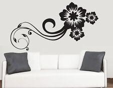 Vorticosi Disegno Floreale Muro Arte Vinile Adesivi Fiori Stanza Trasferimento Murale Decalcomania