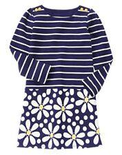 NWT GYMBOREE Flower Shower Striped Daisy DRESS 4 6 girl