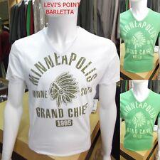 T-shirt in Cotone Guy A Punta A V Mezza Manica Uomo Stampa Tg. M-L-XL-XXL-XXXL