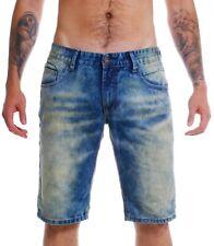 Shine Original Herren Denim Jeans Shorts 2-55028ato blau vintage Capri Hose kurz