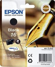 CARTOUCHE EPSON NEUVE 16 NOIRE / stylo plume t16 t 16 t1621 workforce noir