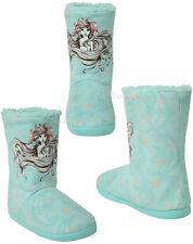 DISNEY LITTLE MERMAID ARIEL Sketch Women Slippers Boots Sherpa Plush House Shoes