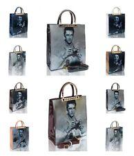 UK New Women's Stylish 3 D Celebrity Singing Star Elvis Presley Print Hand Bag