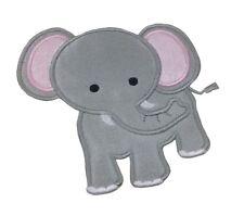 1 x Sew 'n' Iron On Patch Motif Cute Elephant