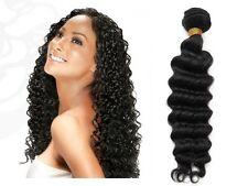 "Black Deep Wave Brazilian 100 Human Hair Weft  (10""-26"")"