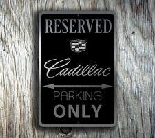 Cadillac Reserved Parking Sign GARAGE SIGN Cadillac Gift
