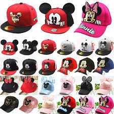 Mickey Minnie Mouse Baseball Cap Kids Boy Girl Snapback Sport Hip Hop Truker Hat