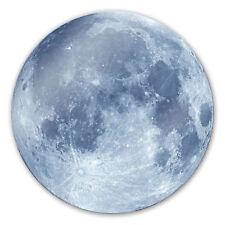 Glas Glasbild Moon Complete - rund grau