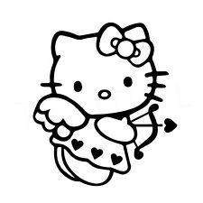 "5"" HELLO KITTY CUPID Vinyl Decal Sticker Car Window Laptop Love Heart Valentine"