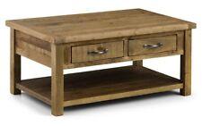 Julian Bowen Aspen Reclaimed - Rough sawn Coffee Table with 2 Drawers