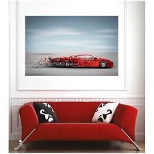 Affiche poster voiture sport rouge75144997