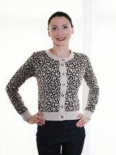 Leopard Print Cardigan 16 18 - Long Sleeve Wool Warm Button Cardi Autumn Winter