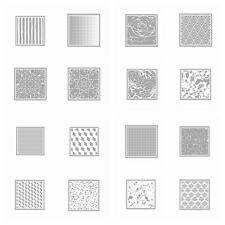 16 Background Stencil Set Plastic DIY Drawing Template Album Photo Drawing Sheet