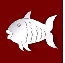 SPECCHIO IN ACRILICO inciso Pesce Muro Bagno