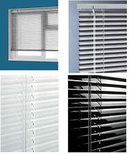 ALUMINIUM VENETIAN WINDOW BLINDS ALL SIZES WHITE BLACK SILVER BLIND HOME OFFICE