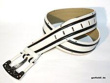 PLAYBOY Gürtel *Retro Bunny Chunky Bucklet Belt* 4,5cm breit, weiß *NEU