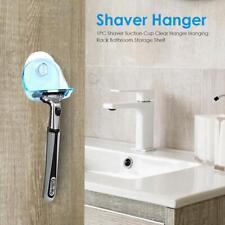 Blue/Grey Shaver Suction Cup Clear Hanger Hanging Rack Bathroom Storage Shelf