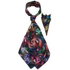 Men's Ascot Cravat Neck Tie Pocket Square Set