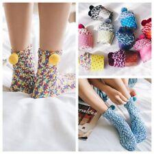 Cute Ball Soft Floor Socks Winter Warm Coral Velvet Knited Hosiery
