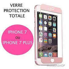 iPhone 7 iPhone 7 Plus VITRE VERRE TREMPE ROSE Film de protection Intégral Total