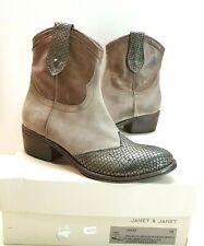 055) Luxus Designer Janet & Janet Stiefletten Stiefel Gr.39 40 41 UVP229€ NEU