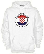 Felpa Con Cappuccio KJ1068 Croazia Football Flag Ultras Mondiali Campionati