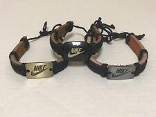 Nike Handmade Leather Braided Tribal Bracelet Nwot