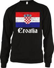 Croatia Flag Text Croatian Pride Hrvatska Zastava Ponosa Long Sleeve Thermal