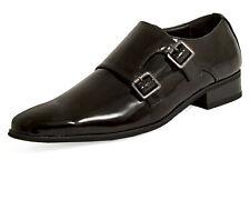 Dobell Mens Black Double Monk Dress Shoes Patent