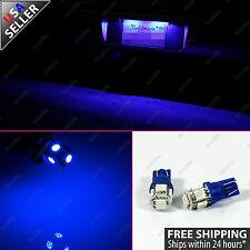 2x License Plate Number Tag Ultra Blue 12V LED Light Bulbs W5W 168 2825 194