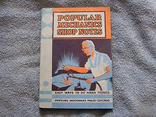 Popular Mechanics Shop Notes 1933