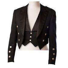 Ex Hire 100% Wool Prince Charlie Kilt Jacket