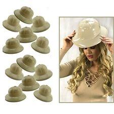 Khaki Plastic Jungle Safari Pith Sun Helmet Costume Birthday Party Kids Hat