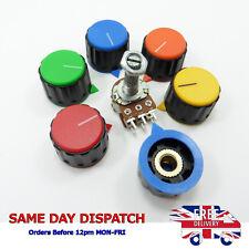 Dual Linear Tone Stereo Pot W Assorted Color Potentiometer Knob Threaded Shaft