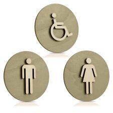 Toilettenschild-Edelstahl-Schild-75mmØ-Dusche-Toilette-WC-Klo-Warnschild-Hinweis