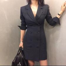 Women's Fashion Outwear Casual Business Slim Fit Belt Mid Long Hot Jacket Luxury