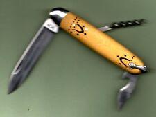 gravé INITIALES  * NAVETTE de NONTRON couteau buis  10cm 3pces