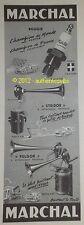 PUBLICITE DE 1955 MARCHAL FULGOR STRIDOR BOUGIE TRINTIGNANT AD ADVERT PUB