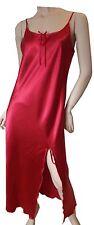 Vestido de noche rojo satén-camisón camisa pijama pijama Nighty Baby Doll