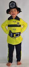 NEW Boy Fire Fighter dress up Costume Set Size S,M,L (age 5-14)