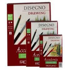 FABRIANO Accademia 200g Disegno Pad 30 fogli a spirale incollato assortiti Taglie A5 4 3