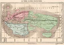 Carta:La Terra per Eratostene di Cirene.Matematico,Astronomo,Geografo,Poeta.1872