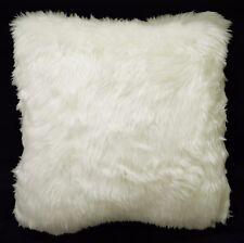 Fm48Aa Cream White Thick Long Faux Fur Pillow Case/Cushion Cover *Custom Size
