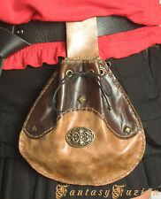 Medieval Victorian Celtic Leather Belt Pouch